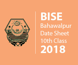 BISE BWP Date Sheet 10th Class 2018