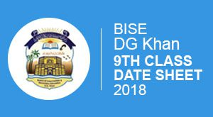 Bise-DG-Khan-Board-9thClass Date Sheet