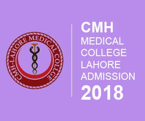 CMH Medical College Lahore Admission 2018 Application Form