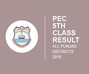 Pec 5th and 8th Class Roll Number Slip 2018