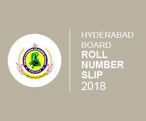 Hyderabad Board matric roll number slip 2018