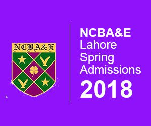 National College of Business Administration & Economics Lahore Spring Admissions 2018