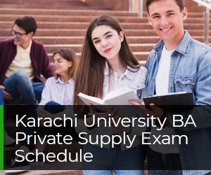 Karachi University BA Private Supply Exam Schedule 2020